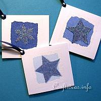 Blue Christmas Package Tags
