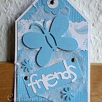 Blue Friendship Tag for All Occasions