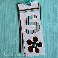 Blue and Brown Retro Tag
