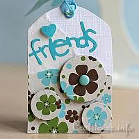 Blue and White Friendship Tag for All Occasions