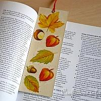 Bookmarker with Leaf Motifs