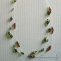Brown and Green Beaded Necklace