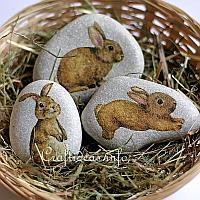 Bunny Stones as Decorations