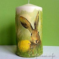 Candle with Bunny and Chick