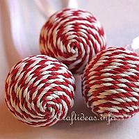 Candy Striped Christmas Ornaments