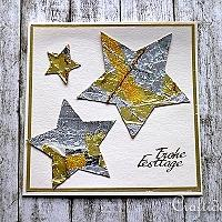 Christmas Card With Foil Stars