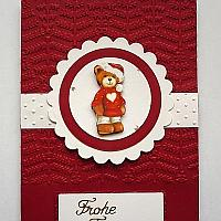 Christmas Card with Bear Motif
