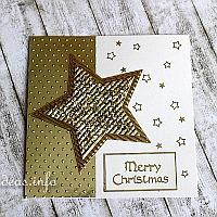 Christmas Card with Gold Colored Embellishments