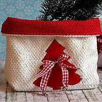 Christmas Terrycloth Baskets