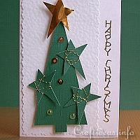Christmas Tree with Stars and Sequins