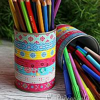 Colorful Can Pencil Holders