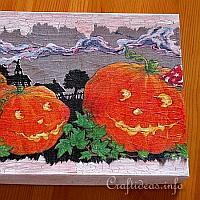 Decoupage Box with Pumpkin Motifs
