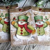 Decoupaged Gift Bags