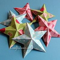 Dimensional 5-Pointed Paper Stars