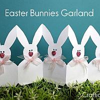 Easter Bunnies Paper Garland