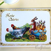Easter Card With Vintage Easter Motif
