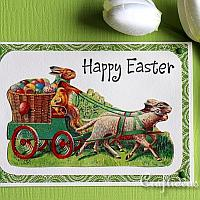 Easter Card With Vintage Easter Motifs