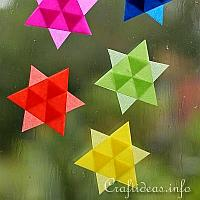 Easy to Make Mini Transparent Stars