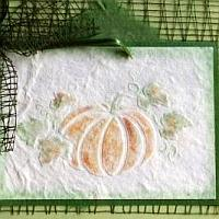 Embossed Pumpkins Card