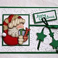 Embossed Santa Christmas Card