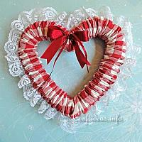 Fabric Country Heart Wreath