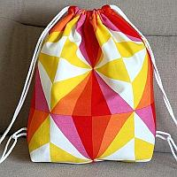 Fabric Drawstring Backpack for Kids