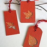 Fall Leaf Shaker Tags