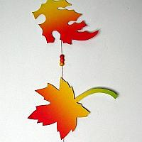 Fall Leaves Paper Garland