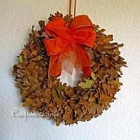 Fall Wreath with Real Leaves