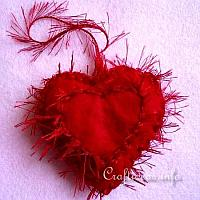 Felt Heart with Fringe