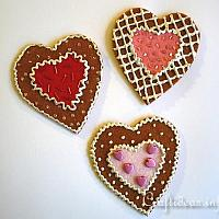 Felt Hearts Refrigerator Magnets