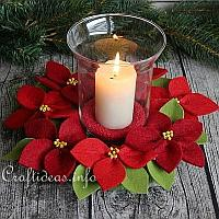 Felt Poinsettia Wreath Craft