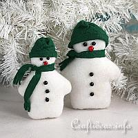 Felt Snowmen Sewing Craft for Christmas