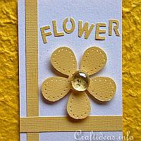 Flower Artist Trading Card with Yellow Flower Motif