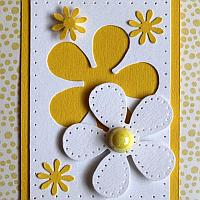 Flower Power ATC with White Daisy Motif