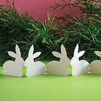 Folded Easter Bunny Table Garland