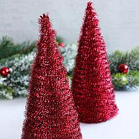 Fringed Cone Christmas Trees Decoration