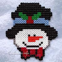 Fuse Beads Snowman