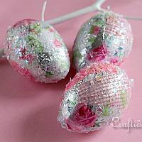 Glitter Easter Eggs Craft