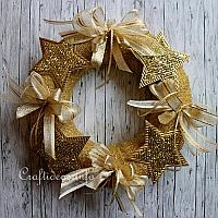 Golden Christmas Wreath