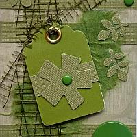 Green ATC with Flower Motif