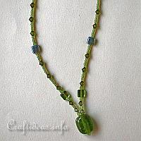 Green Beaded Necklace with Pendant