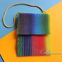 Hip Tote Bag Using Stretchy Corrugated Cardboard