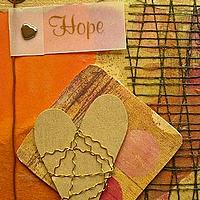 Hope ATC Using Orange and Gold Colors