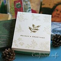 How to Make a Gift Box Using Christmas Cards