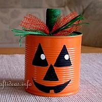 Jack o' Lantern Pumpkin Can Craft