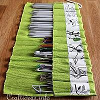 Knitting Needle or Crochet Needle Roll 4