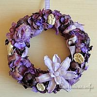 Lilac Colored Potpourri Wreath