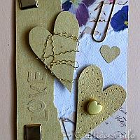 Love ATC Using Gold and Natural Colored Papers