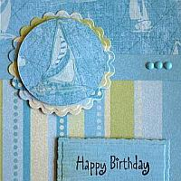 Maritime Birthday Card for Men